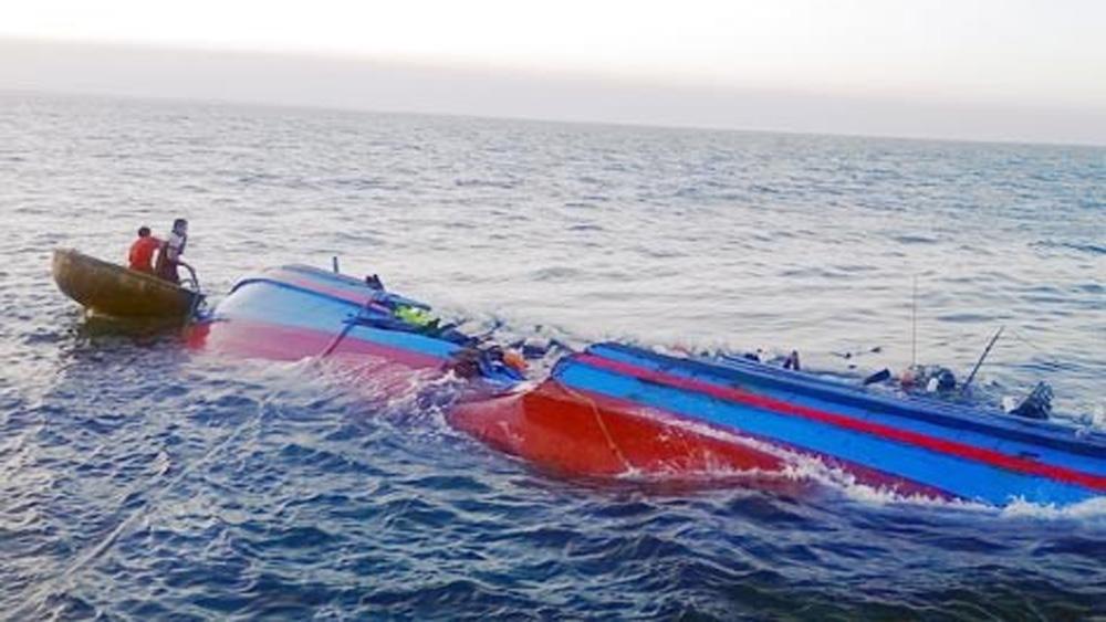 Quảng Ninh huy động tìm người mất tích do chìm tàu ở Cô Tô